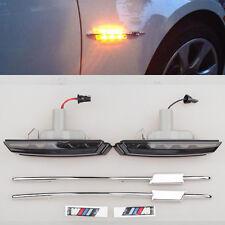 For BMW M5 E39 1997-2003 M 2 LED Smoke Side Marker Lights Turn Signals indicator