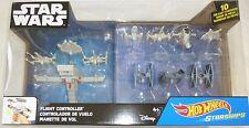 SALE! STAR WARS Disney Hot Wheels 10 Die-Cast Starships & Flight Controller, NEW