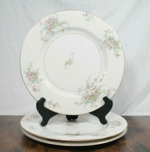 Theodore Haviland Apple Blossom Dinner Plate set of 3
