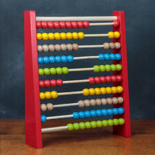 ABACUS BEAD EDUCATION TOY MATHS KIDS TRADITIONAL WOOD LEARN AID PRACTICE COUNT