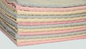 Reversible Blanket Minky Plush Fleece 50/70cm100/75cm for Pram,Cradle,Cot SALE!!