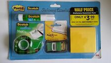 "3m SCOTCH POST-IT ""CARTOLERIA Essentials'S GIFT PACK COLLA STICK Index Magic Tape"