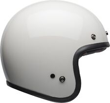Casco Helm Casque Helmet Bell Custom 500 DLX Solid Vintage White taglia L