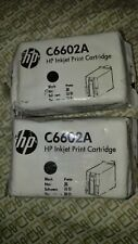 NEW HP C6602A  Black Ink Cartridge  6602 Set of 2