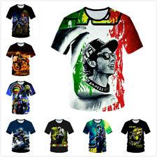 VR46 Valentino Rossi Motorbike T-Shirt Women Men Kids Short Sleeve Tops C2