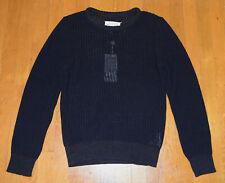 Maison Margiela Mens Dark Blue Knitted Crew Neck Sweater Small