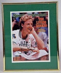Larry Bird Signed Sports Illustrated Boston Celtics Framed Upper Deck Cert