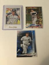 Aaron Judge RC 3 Card Lot! 2017 Topps Artist Proof, 2019 Bowman Plat /150 MT-NM