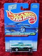 2000 Hot Wheels Treasure Hunt #8/12 57 Thunderbird Mint On Mint Card