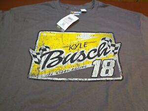Kyle Busch #18 Nascar  Joe Gibbs Racing Team M&M's T-Shirt -XL    NEW  F12