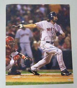 122824 Johnny Damon Signed 16x20 Photo AUTO Autograph LEAF COA Boston Red Sox
