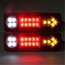 2X12V 19Led Trailer UTE UTV Stop Tail Light Integrated Turn Signal Driving Lamp