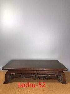 Ancient Old Chinese Huanghuali Wood Dynasty Bamboo Design Tea Table Desk