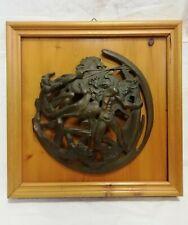 Scultura in bronzo a rilievo Vincenzo Gennaro diametro cm 35 Antikidea