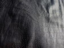 Lambskin Sheepskin Hair-On leather hide Red Wine Laser Cut Crocodile 5.5sf 2oz