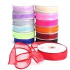 25 Yards Satin Edge Sheer Organza Ribbon Bow Craft Wedding Decor 10/15/25/38 mm