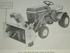 John Deere 32A Snowthrower Snow Thrower Operators Manual fits 60 70 100 tractors
