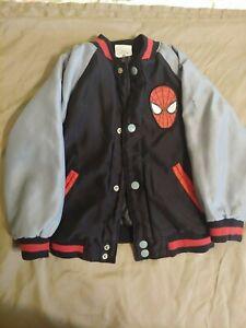 DISNEY - MARVEL Snap Up Kid's Jacket with Pockets - Black- SPIDERMAN - Size 3 ~