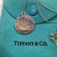 """Tiffany & Co 925 Sterling Silver 18"""" Necklace Set. In Original Blue Pouch."""