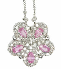 Pink Sapphire Fine Diamond Necklaces & Pendants