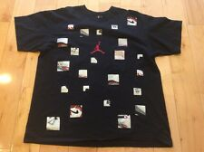 Rare Nike Air Jordan XX1 Basketball Shoes T-shirt XL Black Michael Collage EUC