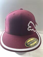 PUMA EVERCAT BASEBALL BALL CAP HAT Burgundy Flexfit Tech Size S/M