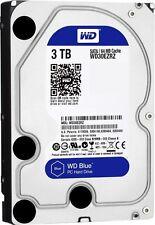 """Western Digital 3000GB Festplatte 3,5 """" WD Blue SATA 3 interne PC 3 TB WD30EZRZ"""