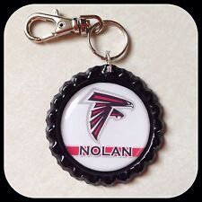PERSONALIZED Name ATLANTA FALCONS Bottle Cap Pendant Zipper Pull Clip ID Jewelry