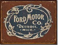 Ford Antiguo Logo Dealer Garaje Vintage Taller Decoración Póster Signo de 147