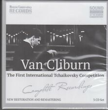 VAN CLIBURN First Tchaikovsky Competition Complete Recordings 3CD BOX RUS NEW