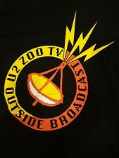 Vintage U2 Zoo Tv Outside Broadcast Tour T-Shirt Size L 1992 Concert Bono Edge