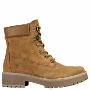 "TIMBERLAND WOMEN'S CARNABY COOL 6"" INCH WINTER BOOTS RUST SUEDE BROWN A1UPW"
