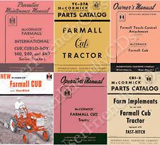 IH International FARMALL CUB & LO BOY 1947-1964 Owner Parts Manual MANUALS on CD