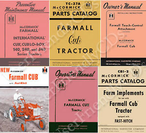 IH International FARMALL CUB & LO BOY 1947-1964 Owner Parts Manual MANUALS on CD