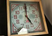 Antique VERY OLD Electronic Glass Square Clock Patent #112627