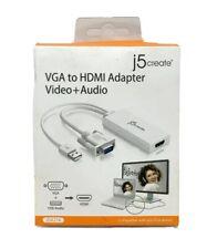J5create VGA to HDMI Video Audio Adapter JDA214 New Sealed