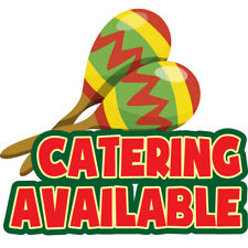"""Catering Available 12"""" Concession Decal sign cart trailer stand sticker"""