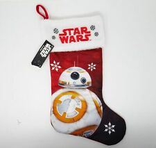 New Disney Star Wars Classic Red & White Bb-8 Youth Kids Christmas Stocking