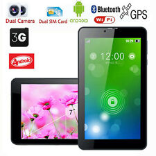 "7"" inch GPS Dual Sim Android 5.1 Bluetooth Tablet PC Quad Core Dual Cam WIFI +3G"