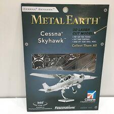 Metal Earth Steel 3D Museum Quality Model Cessna Skyhawk Plane, Unopened Pkg