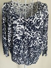M&Co Women's Cardigan Size XXL (18-20) Grey Mix Animal Print Diamond Buttons