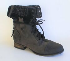 Steve Madden Women's Cablee Boot Distressed Black US 6.5 NOB NWD