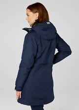 Helly Hansen Womens Long Belfast Winter Jacket M Evening Blue 62395 691-m