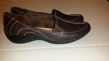 NWOT Woman's Life Stride BROWN Driving Mocs Slip On Flat Oxford Shoes Sz 6.5