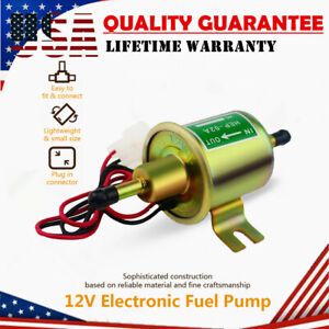 Universal Gas Diesel Inline Low Pressure Electric Fuel Pump 12V 4-7 PSI E8012S