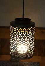 """Hanging Mini Pendant Light Fixture with Silver Metal Shade 8""""x5"""" Global Chic"""