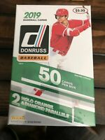 2019 Donruss Baseball HUGE Factory Sealed 50 Card HANGER Box-HOLO PARALLELS!