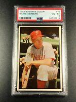 RICHIE ASHBURN 1953 BOWMAN COLOR #10 VINTAGE CARD VG-EX PSA 4 PHILLIES MLB HOF