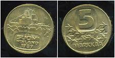 FINLANDE 5  markkaa  1989
