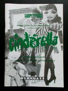 Cinderella programme Derngate Northampton theatre 1992 Music Theatre London